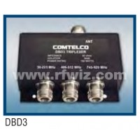 Comtelco DBD3  -  144-174 / 406-512 / 745-870 MHz Tri-Band VHF / UHF Triplexer w/N Female Connectors