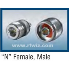 Comtelco RFC-07A  -  TYPE N Crimp Male Connector for RG58A/U Coax