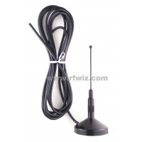 Comtelco A2111B-450-00  -  450-470 MHz Quarterwave Magnet Mount 12 ft Mobile Antenna BLACK finish - NOS