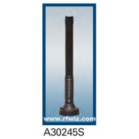 "Comtelco A30245S  -  2400 -2500 MHz 6"" Enclosed Coil Shock Spring 3dBd BLACK finish Mobile Antenna"