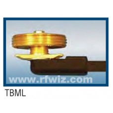 "Comtelco TBML  -  Thick Body Mount with 17' of RG-58 Cable NO CONNECTOR 1/4"" Thick Plate 3/8 or 3/4 Hole"
