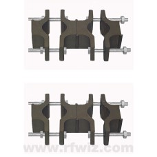Comtelco BSLLUMNT2-8  -  DUAL Universal Super Duty Rotatable Mount Bracket for BSL & BSLL Antennas