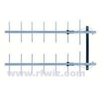 "Comtelco 2Y3347CC-A  -  406-430 MHz UHF 14 Element Yagi 13.2dBd Gain 20dB F/B 44"" Stacked Beam Antenna"