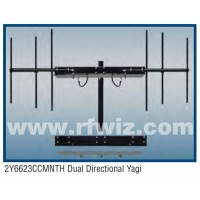 "Comtelco 2Y6623CCMNTH  -  200 -225 MHz UHF 6 Element 2-Yagi 7 dBd-18dB F/B 60"" Dual DIrectional Antenna"