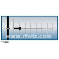 "Comtelco Y2288A-WB  -  806-950 MHz UHF 8 Element Yagi 10.2 dBd-20dB F/B 29"" Wide Band N Beam Antenna"