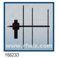 "Comtelco Y6623D-200  -  200 -225 MHz UHF 3 Element Yagi 7 dBd-18dB F/B 24"" Welded Enclosed Feed Beam Antenna"