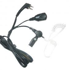 Maxon TAD-818X - TPD-8000 Series Discreet (clear audio cord) ear speaker w/lapel mic/PTT