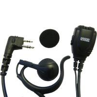 "Maxon TAD-819X - TPD-8000 Series ""C"" Style Earhook Speaker w/lapel mic/PTT"