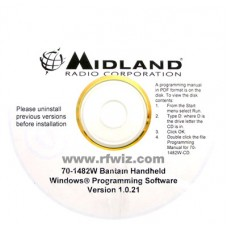Midland 70-1482W - Bantam Series 70-170B 70-162B Programming Software CD for Windows  - NOS