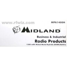 Midland MPA1400H - Maxon SP-130 SP-140 SP-150 SL-55 7.2V 1500mAh NiMH Replacement Battery - NOS