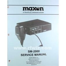 Midland 680-100-0045 - SM-2000 SM-2150 SM-2450 Maxon Synthesized Mobile Radio Service Manual NOS
