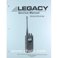 Midland 680-100-2010 - Legacy ProLine PL5161 PL5164 Synthesized Portable Radio Service Manual NOS