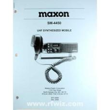 Midland 680-100-2014 - SVC-4450 Maxon SM-4450 UHF Synthesized Mobile Radio Service Manual NOS