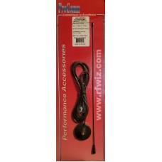 "ProComm JBC290M/M  -  25 MHz-1.2 GHz 15"" Wide-Band Motorola Plug Magnetic Scanner Antenna - NOS"