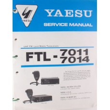 Vertex Standard E02589000 - FTL-7011/7014 UHF Service Manual 400-512 MHz (A/D/F) Mobile Radio Pre-Owned