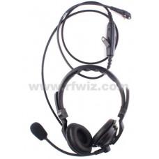 Vertex Standard VH-225S - VX-210 VX-160 VX-180 Dual Muff Headset PTT Button Speaker Microphone - NOS
