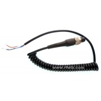 Standard-001 - Retractile Replacement Microphone/Audio Cable 4-Conductor - NOS