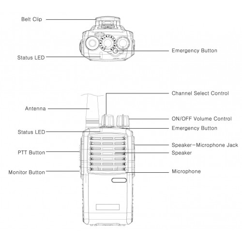 maxon microphone wiring diagram tp 5116 maxon tp 5000 series 5 watt vhf analog portable two way  tp 5116 maxon tp 5000 series 5 watt vhf