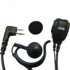"Maxon TA-819X - TP-8000 Series ""C"" Style Over the Earhook Speaker w/lapel mic/PTT"