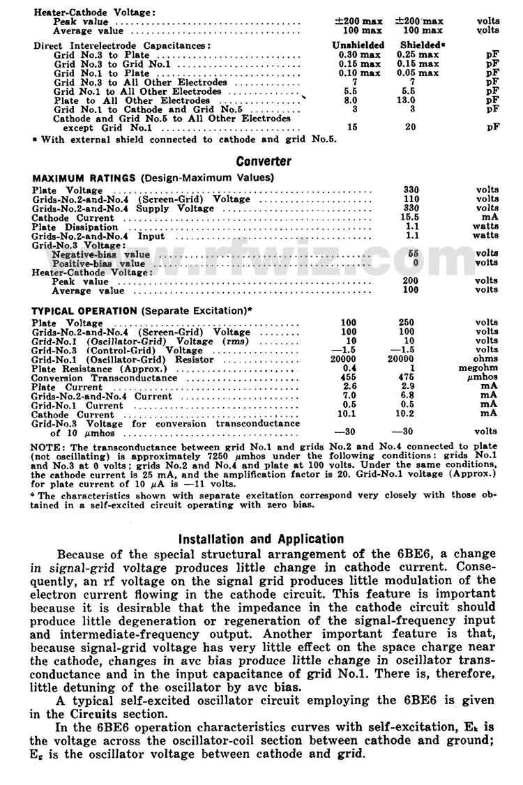6BE6 RCA Heptode Pentagrid Vintage Miniature Vacuum Tube 7